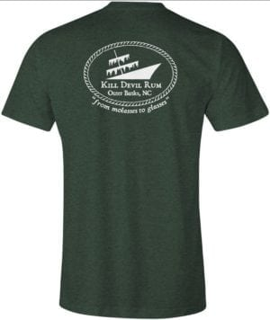 Kill Devil Rum-From Molasses to Glasses-shirt heather green-back