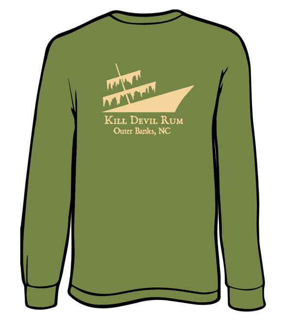 Kill Devil Rum Shirt-long sleeve-olive
