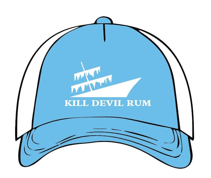 Kill Devil Rum Hat - White and Blue