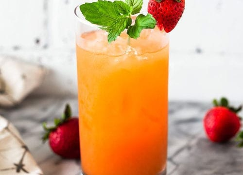 Strawberry Rosé Rum Punch